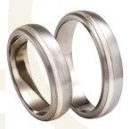 Titanium wedding rings with silver SWTS-77/5