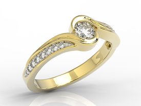 0,39ct diamonds, 14ct yellow gold BP-28Z-R