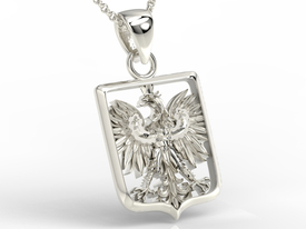 14ct white gold pendant with an eagle BPW-36B