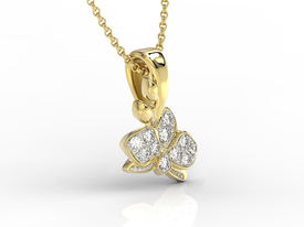 14ct yellow gold pendant with cubic zirconias BPW-45Z-R-C
