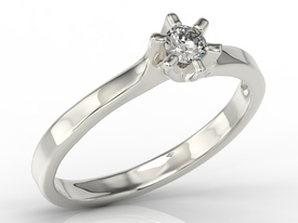 Diamond 14ct white gold engagement ring AP-9416B