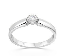Diamond 14ct white gold engagement ring BP-2110B