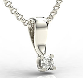 Diamond 14ct white gold pendant LPW-8108B