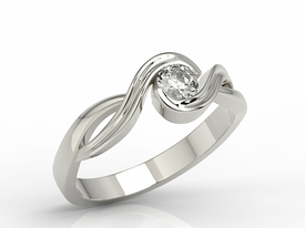 Diamond 14ct white gold ring AP-7527B