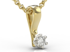 Diamond 14ct yellow & white gold pendant LP-8010ZB