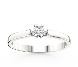 Diamond solitaire 14ct white gold ring LP-8010B