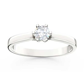 Diamond solitaire 14ct white gold ring LP-8027B