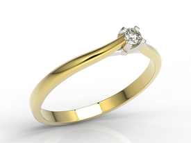 Diamond solitaire engagement 14ct gold ring AP-3308ZB