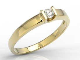 Diamond solitaire engagement ring 14ct gold JP-9808Z
