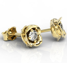 Diamonds 14ct gold earrings LPK-4221Z