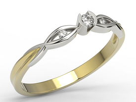 Diamonds 14ct gold engagement ring AP-5608ZB