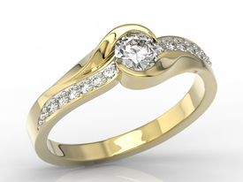 Diamonds 14ct gold engagement ring AP-6139Z-R