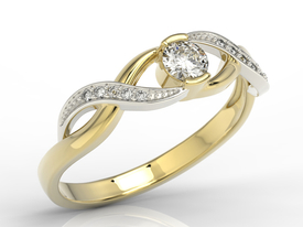 Diamonds 14ct gold ring  BP-39ZB