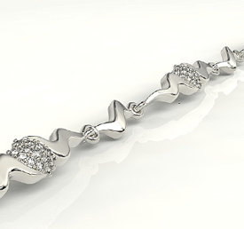 Diamonds 14ct white gold bracelet  LPBr-20B