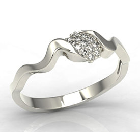 Diamonds 14ct white gold ring LP-20B