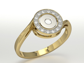 Diamonds 14ct white & yellow gold ring BP-18ZB