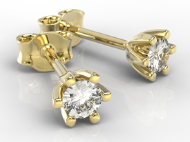 Diamonds 14ct yellow gold earrings LPK-8020Z
