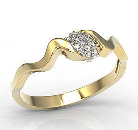 Diamonds 14ct yellow gold ring LP-20Z-R