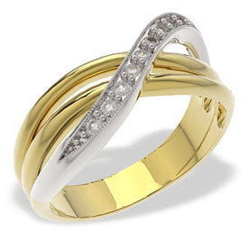 Diamonds 14ct yellow & white gold ring LP-30ZB