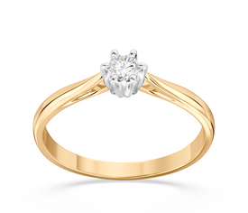 Enagagement diamond ring from yellow and white gold AP-6610ZB