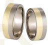 Pair of Titanium wedding rings with yellow gold SWTG-58/7