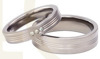 Pair of the titanium wedding rings with the zirconias SWT-3/4