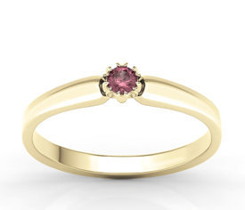 Ruby, 14ct yellow gold ring BP-2110Z