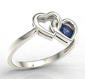 Sapphire 14ct white gold ring LP-52B