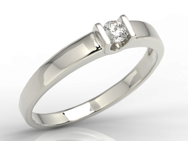 Solitaire diamond ring, 14ct white gold JP-9808B