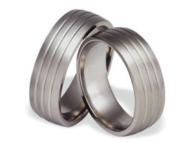 Titanium wedding ring SWT-12/7-m