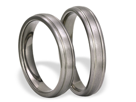 Titanium wedding ring SWT-2/4-m