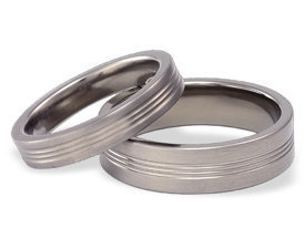 Titanium wedding ring SWT-3/4-m