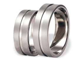 Titanium wedding ring SWT-31/7-m