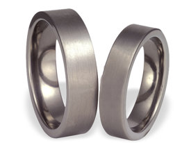 Titanium wedding ring SWT-37/6-m