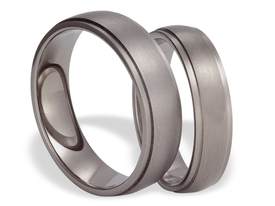 Titanium wedding ring SWT-6/5-m