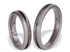 Titanium wedding ring SWT-65/4-m