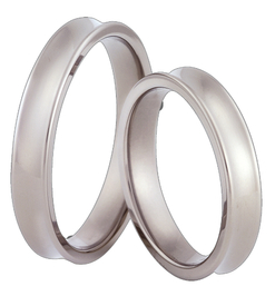 Titanium wedding ring SWT-66/4-m
