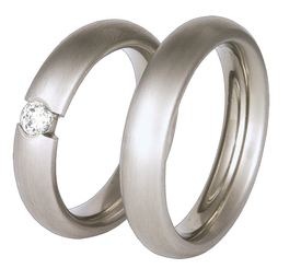 Titanium wedding ring with a cubic zirconia SWT-36/5-k