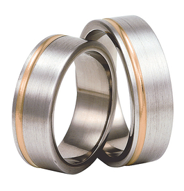 Titanium wedding ring with red gold SWTRG-72/7-k