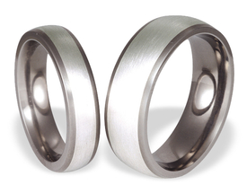 Titanium wedding ring with silver SWTS-57/5,5-m