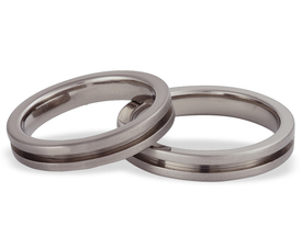 Titanium wedding rings SWT-1/4-m