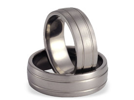 Titanium wedding rings SWT-11/7-m