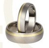 Titanium wedding rings with yellow gold SWTG-63/5