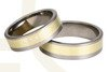 Titanium wedding rings with yellow gold SWTG-68/7