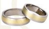 Titanium wedding rings with yellow gold SWTG-69/7