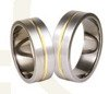 Titanium wedding rings with yellow gold SWTG-73/7