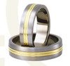 Titanium wedding rings with yellow gold SWTG-79/6