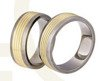 Titanium wedding rings with yellow gold SWTG-80/7
