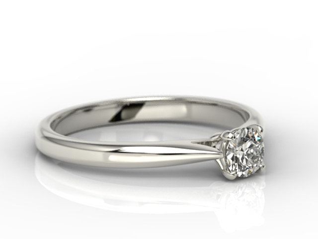 Diamond solitaire 14ct white gold engagement ring AP-3530B