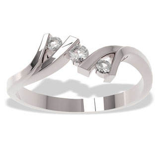 Diamonds 14ct white gold ring LP-21B